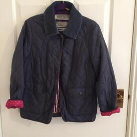 Jack Wills Navy Quilted jacket size 10