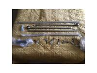 Heavy duty bay window curtain rail