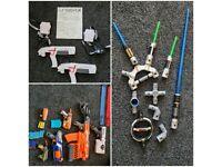 Nerf Guns, StarWars Lightsaber Bundle and Laser X Kit