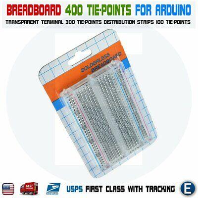 Mini Transparent Clear Solderless Breadboard 400 Tie-points For Arduino