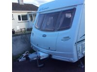 Lunar Freelander EWL 2005 twin axle 4 berth caravan with fixed bed and motor mover