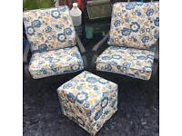 Garden / conservatory chairs & footstool