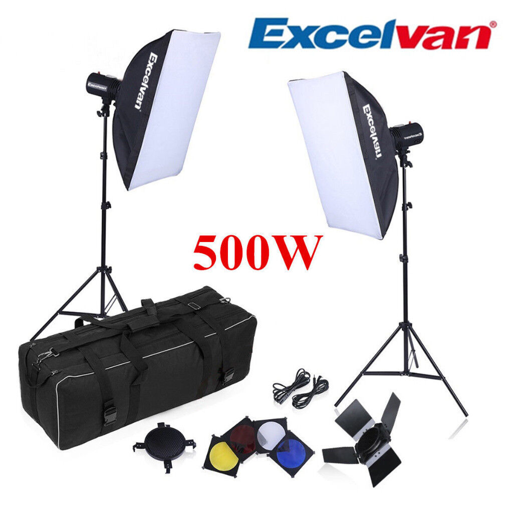 Strobe Studio Photo Flash Lighting Kit Softbox Trigger + Light Stand  sc 1 st  Gumtree : flash lighting - azcodes.com