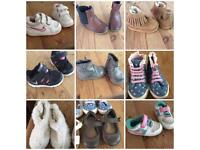 12 pairs of girls shoes
