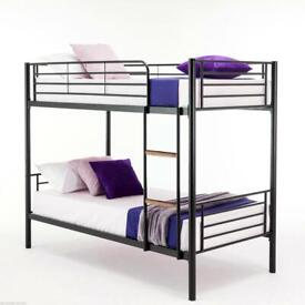 kids bunk bed-Single Splitable Metal Bunk Bed-flat packed-cash on delivery