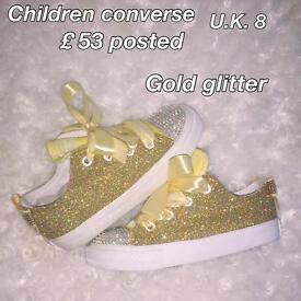 Customised converse children's brand new