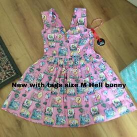 Hell Bunny flamingo dress Medium new with tags RRP £37