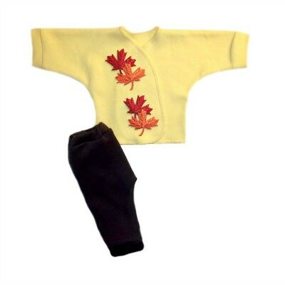 Falling Leaves Shirt and Pants Baby Clothing Outfit - Preemie and Newborn Sizes