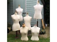 Lot of Vintage Shop Mannequins