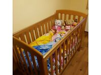Mamas & Papas Oak Cot / Cot Bed