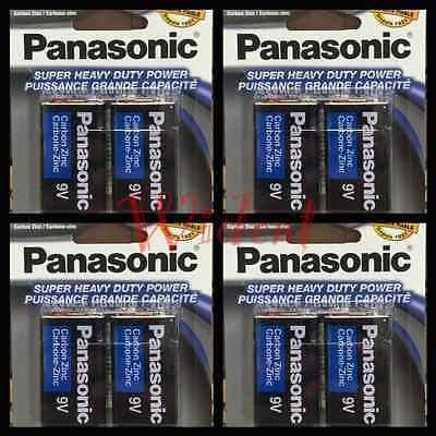 Heavy Duty 9v Battery - 8 Pcs Panasonic 9 Volts (9V) Battery Batteries Super Heavy Duty Zinc Carbon