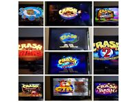 Complete Crash Bandicoot collection - PS1 PS2 PS3 console!