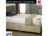 Brand New Luxury Orthopaedic Spring + Memory Foam Divan bed set & Mattress Sale 3ft 4ft 5ft 6ft