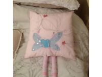 Pink bed cushion