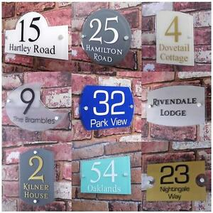 Personalised house sign door number street address plaque glass effect acryli - Plaque plexi castorama ...
