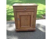 Solid pine cupboard.