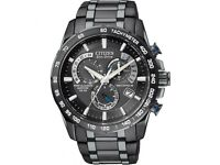 Citizen Eco Drive AT4007-54E Stainless Steel Bracelet NEW WARRANTY