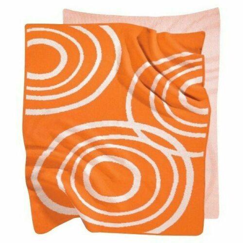 """NOOK Sleep System 100% Organic 40"""" x 30""""  Knit Blanket Poppy Orange NWT NEW"""