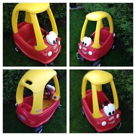 little tykes cozy coupe good condition red and yellow £20.00