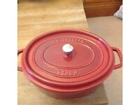 New Staub oval French cast iron oven