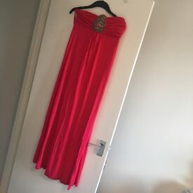 Pink monsoon maxi dress - worn twice. Perfect condition