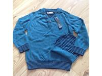 M&S Boys 4-5 Years Cashmere Jumper And Hat