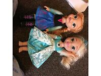 Singing Elsa and Anna dolls