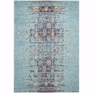 Like New, Safavieh Monaco Vintage Distressed Blue/ Multi Distressed Rug (5'1 x 7'7)  *PickupOnly