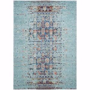 Like New, Safavieh Monaco Vintage Distressed Blue/ Multi Distressed Rug (5'1 x 7'7)  *PickupOnly