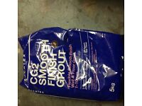 3 X 5kg bags new smooth finish grout dark brown