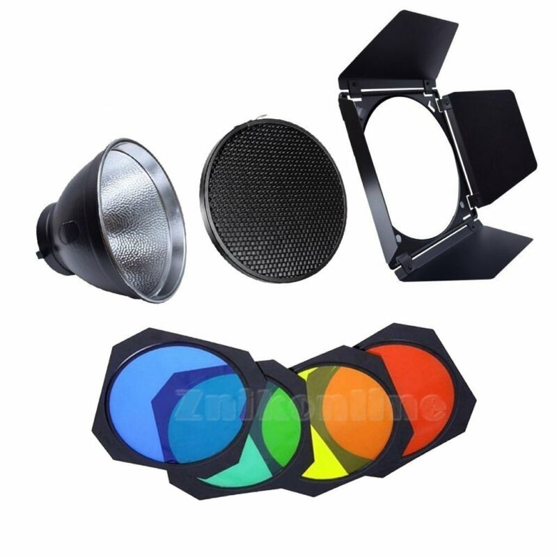 Godox BD-04 Barn Door Honeycomb Grid AD-R6 Reflector For AD600B AD600BM Strobe