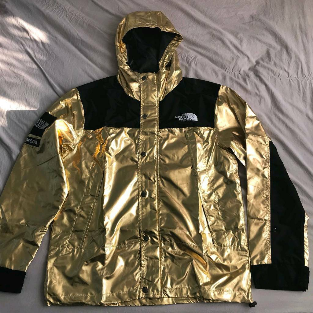 2bcc082c Supreme x north face jacket hoodie coat reflective gold bape off white ...