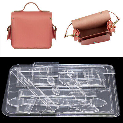 Leder Craft Acryl Schablone Vorlage Schulter Crossbody Tasche Muster (Crossbody-tasche Muster)