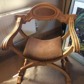 Stunning modern X frame chair or throne?