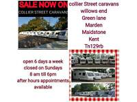 Caravans in stock age from 1997 to 2014