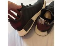Adidas Reflective Khaki green & Burgandy NMD's