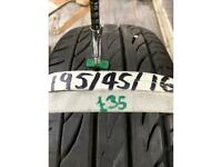 Pirelli Pzero 195/45/16 part worn tyre tire