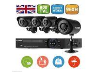 0 TO EIGHT CAMERA DVR RECORDING SYSTEM 960H HDMI DVR 900TVL CCTV Outdoor IR Camera System Full Syste