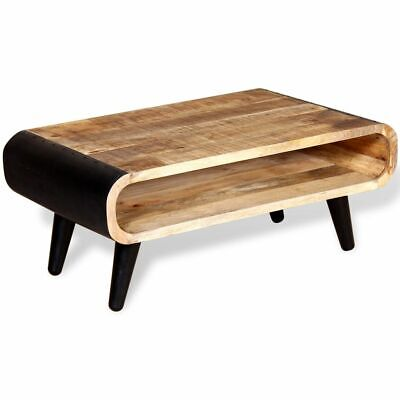 vidaXL Coffee Table Side Stand Lamp Solid Rough Mango Wood Living Room Furniture
