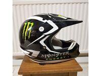 ONE Industries Kombat Motocross Helmet- Small 55-56 cm, Black Monster Energy GC