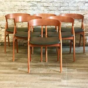 Mid-Century Teak and Rosewood Dining Chairs