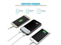 EC Technology 10000mAh Portable Charger with 5A Output Battery USB Charger for iPhone iPad