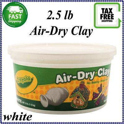 NEW!! Crayola Air-Dry Modeling Clay - Non-Toxic White - 2.5 Lb Bucket