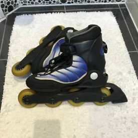 K2 inline skates UK 4.5 with helmet and armour pad set