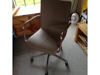 Office chair IKEA, beige leather