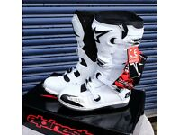 Alpine Stars Motocross Boots Brand New, boxed, White, Never even put on!