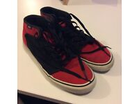 Size 8 - Red & Black Vans High-tops