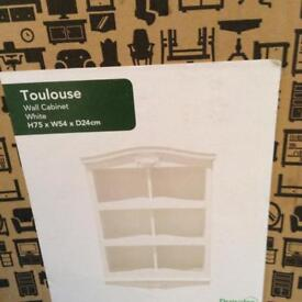 Toulouse white wall cabinet