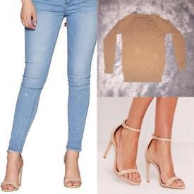 Size 12 camel Zara top