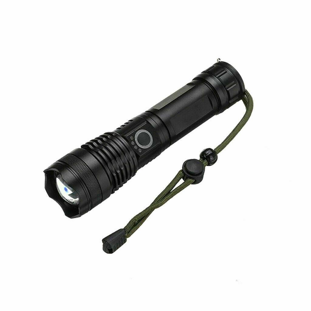 TORCIA TATTICA/MILITARE LED CREE T6 RICARICABILE ZOOM DOPPIA BATTERIA A90-P50